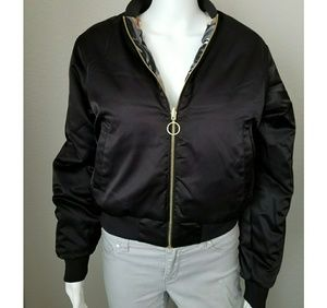 66254c6b9 NWOT Puma floral ombre reversible bomber jacket
